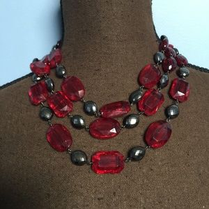 3 FOR $30 3-Strand Beaded Statement Necklace